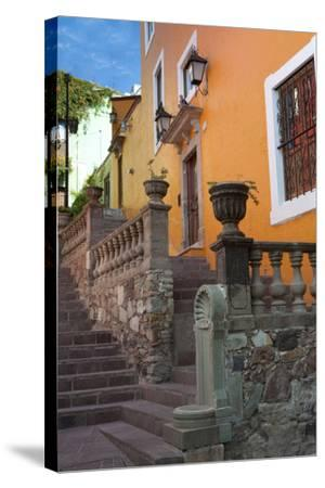 Mexico, the Colorful Homes and Buildings of Guanajuato-Judith Zimmerman-Stretched Canvas Print