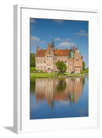 Denmark, Funen, Egeskov, Egeskov Castle, Exterior-Walter Bibikow-Framed Photographic Print