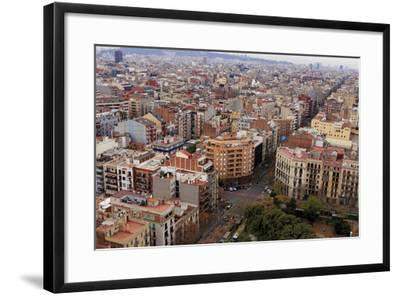 Looking Out over the City of Barcelona, Spain from the Top of the Sagrada Familia Church-Paul Dymond-Framed Photographic Print