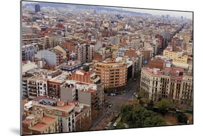 Looking Out over the City of Barcelona, Spain from the Top of the Sagrada Familia Church-Paul Dymond-Mounted Photographic Print