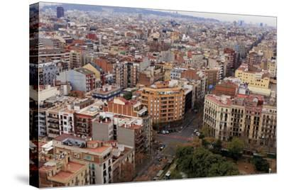 Looking Out over the City of Barcelona, Spain from the Top of the Sagrada Familia Church-Paul Dymond-Stretched Canvas Print