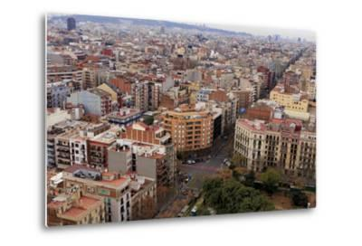 Looking Out over the City of Barcelona, Spain from the Top of the Sagrada Familia Church-Paul Dymond-Metal Print