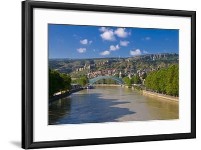 Pedestrian Bridge of Peace over Kura River Designed by Michele De Lucchi in Tbilisi, Georgia-Michael Runkel-Framed Photographic Print