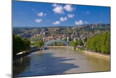 Pedestrian Bridge of Peace over Kura River Designed by Michele De Lucchi in Tbilisi, Georgia-Michael Runkel-Mounted Photographic Print