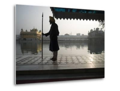 Guards at Golden Temple in Amritsar, Punjab, India-David H^ Wells-Metal Print