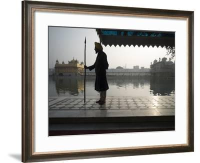 Guards at Golden Temple in Amritsar, Punjab, India-David H^ Wells-Framed Photographic Print