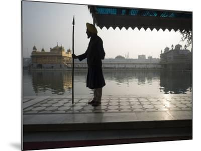 Guards at Golden Temple in Amritsar, Punjab, India-David H^ Wells-Mounted Photographic Print