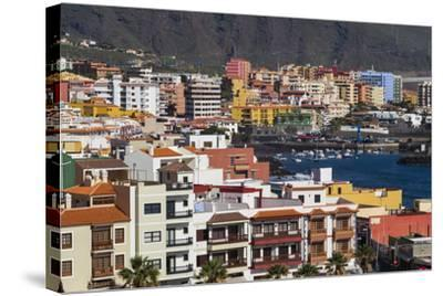 Spain, Canary Islands, Tenerife, Candelaria, Elevated Town View-Walter Bibikow-Stretched Canvas Print