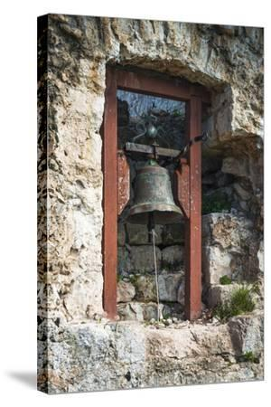 Bell at St. Michael's Fort, Ugljan Island, Dalmatian Coast, Croatia-Russ Bishop-Stretched Canvas Print