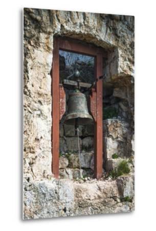Bell at St. Michael's Fort, Ugljan Island, Dalmatian Coast, Croatia-Russ Bishop-Metal Print