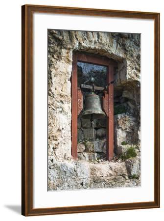 Bell at St. Michael's Fort, Ugljan Island, Dalmatian Coast, Croatia-Russ Bishop-Framed Photographic Print