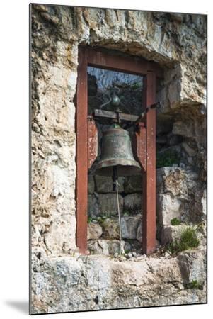 Bell at St. Michael's Fort, Ugljan Island, Dalmatian Coast, Croatia-Russ Bishop-Mounted Photographic Print