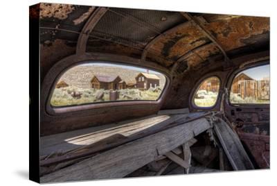 California, Bodie State Historic Park. Inside Abandoned Car Looking Out-Jaynes Gallery-Stretched Canvas Print
