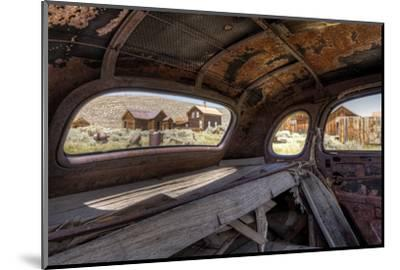 California, Bodie State Historic Park. Inside Abandoned Car Looking Out-Jaynes Gallery-Mounted Photographic Print