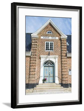 Historic Brick House Entrance in Ribe, Denmark's Oldest Surviving City, Jutland, Denmark-Michael Runkel-Framed Photographic Print