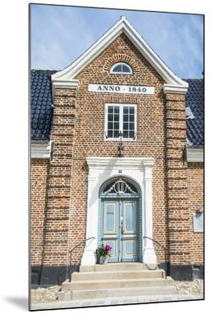 Historic Brick House Entrance in Ribe, Denmark's Oldest Surviving City, Jutland, Denmark-Michael Runkel-Mounted Photographic Print