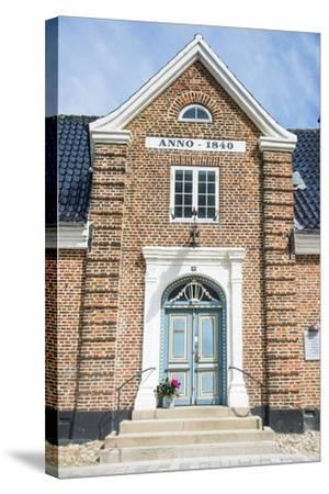 Historic Brick House Entrance in Ribe, Denmark's Oldest Surviving City, Jutland, Denmark-Michael Runkel-Stretched Canvas Print