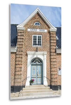 Historic Brick House Entrance in Ribe, Denmark's Oldest Surviving City, Jutland, Denmark-Michael Runkel-Metal Print