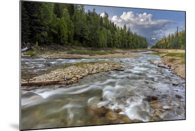 Doris Creek Runs into Hungry Horse Reservoir with Flathead Range, Flathead National Forest, Montana-Chuck Haney-Mounted Photographic Print