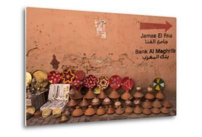 Tagines for Sale in Marrakech, Morocco-Brenda Tharp-Metal Print
