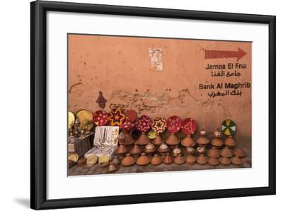 Tagines for Sale in Marrakech, Morocco-Brenda Tharp-Framed Photographic Print