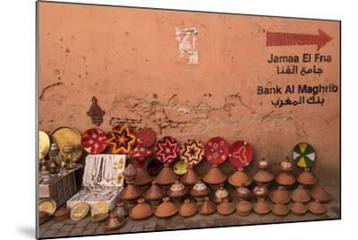 Tagines for Sale in Marrakech, Morocco-Brenda Tharp-Mounted Photographic Print