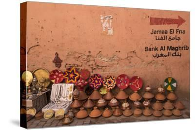 Tagines for Sale in Marrakech, Morocco-Brenda Tharp-Stretched Canvas Print