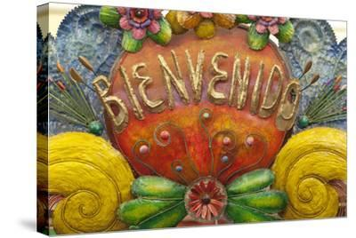 Mexico, San Miguel De Allende. a Colorful Metal Sign Saying 'Welcome' Is Sold in a Market-Brenda Tharp-Stretched Canvas Print