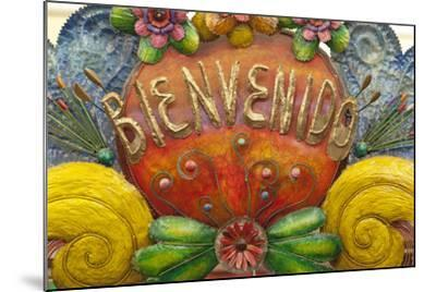 Mexico, San Miguel De Allende. a Colorful Metal Sign Saying 'Welcome' Is Sold in a Market-Brenda Tharp-Mounted Photographic Print