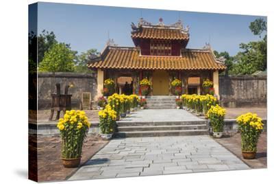 Vietnam, Hue. Tomb Complex of Emperor Minh Mang-Walter Bibikow-Stretched Canvas Print
