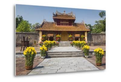 Vietnam, Hue. Tomb Complex of Emperor Minh Mang-Walter Bibikow-Metal Print