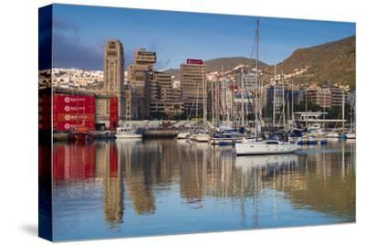 Spain, Canary Islands, Tenerife, Santa Cruz De Tenerife, City View from the Port, Morning-Walter Bibikow-Stretched Canvas Print