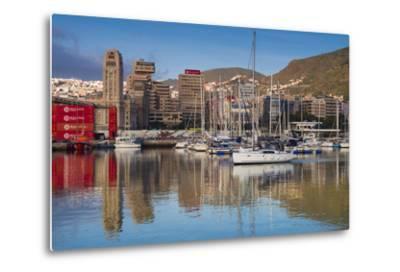 Spain, Canary Islands, Tenerife, Santa Cruz De Tenerife, City View from the Port, Morning-Walter Bibikow-Metal Print