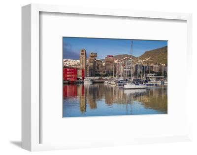 Spain, Canary Islands, Tenerife, Santa Cruz De Tenerife, City View from the Port, Morning-Walter Bibikow-Framed Photographic Print