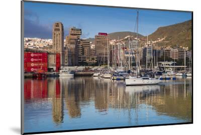 Spain, Canary Islands, Tenerife, Santa Cruz De Tenerife, City View from the Port, Morning-Walter Bibikow-Mounted Photographic Print