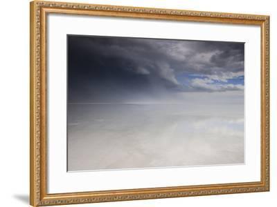 Passing Thunderstorm over Bonneville Salt Flats, Utah-Judith Zimmerman-Framed Photographic Print