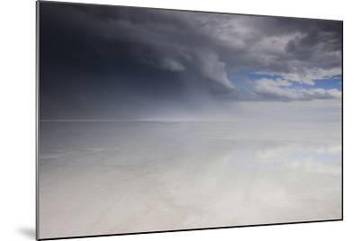 Passing Thunderstorm over Bonneville Salt Flats, Utah-Judith Zimmerman-Mounted Photographic Print