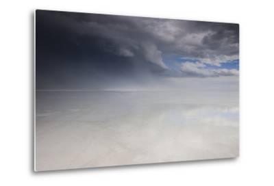 Passing Thunderstorm over Bonneville Salt Flats, Utah-Judith Zimmerman-Metal Print