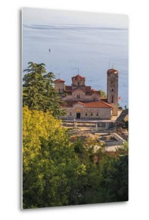 Macedonia, Ohrid, Lake Ohrid, Saint Panteleimon Monastery on Plaosnik-Emily Wilson-Metal Print