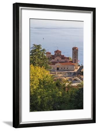 Macedonia, Ohrid, Lake Ohrid, Saint Panteleimon Monastery on Plaosnik-Emily Wilson-Framed Photographic Print