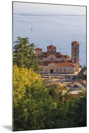 Macedonia, Ohrid, Lake Ohrid, Saint Panteleimon Monastery on Plaosnik-Emily Wilson-Mounted Photographic Print