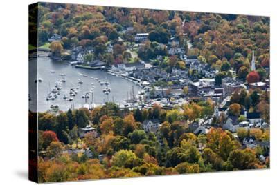 Autumn, Camden Harbor, Camden, Maine, from Mount Battie State Park-Michel Hersen-Stretched Canvas Print