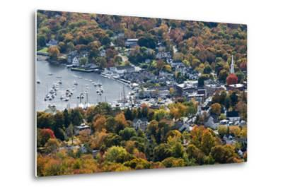 Autumn, Camden Harbor, Camden, Maine, from Mount Battie State Park-Michel Hersen-Metal Print