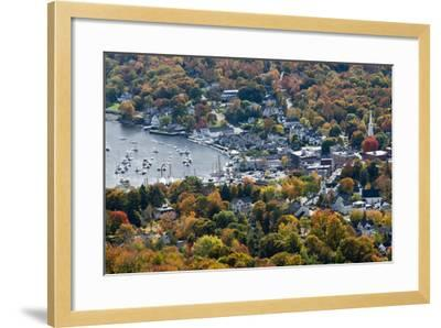 Autumn, Camden Harbor, Camden, Maine, from Mount Battie State Park-Michel Hersen-Framed Photographic Print
