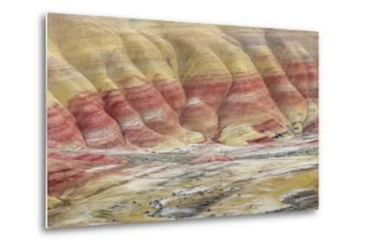 Oregon, John Day Fossil Beds National Monument. Landscape of Painted Hills Unit-Jaynes Gallery-Metal Print