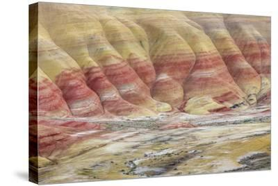 Oregon, John Day Fossil Beds National Monument. Landscape of Painted Hills Unit-Jaynes Gallery-Stretched Canvas Print