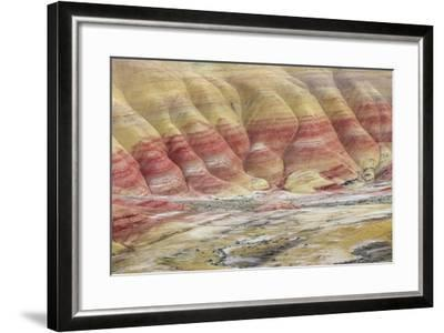 Oregon, John Day Fossil Beds National Monument. Landscape of Painted Hills Unit-Jaynes Gallery-Framed Photographic Print