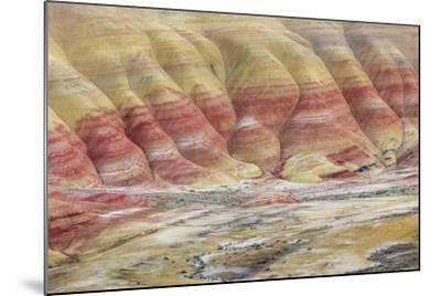 Oregon, John Day Fossil Beds National Monument. Landscape of Painted Hills Unit-Jaynes Gallery-Mounted Photographic Print