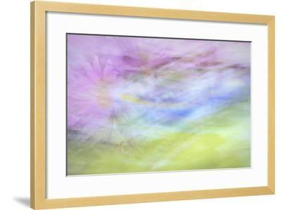 Washington State, Seabeck. Abstract of Flowers in Motion-Jaynes Gallery-Framed Photographic Print