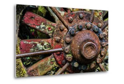 Washington State, Forks. Detail of Antique Logging Equipment-Jaynes Gallery-Metal Print